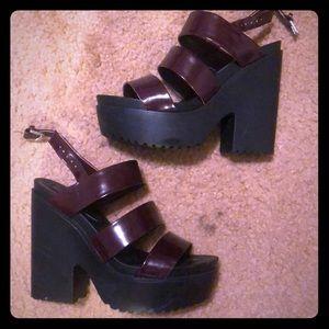 Stylish burgundy heels from Forever 21!